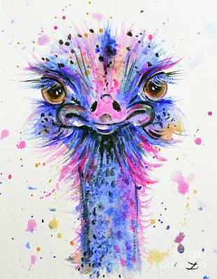 Cute Ostrich Original by Zaira Dzhaubaeva