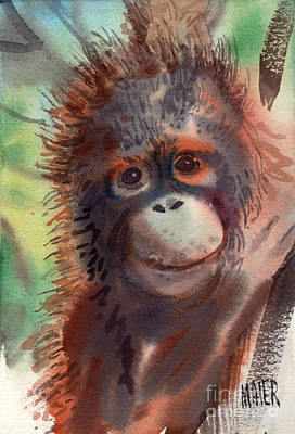 Orangutan Painting - My Precious by Donald Maier
