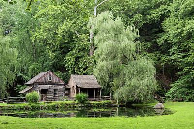 Log Cabin Art Photograph - Cuttalossa Farm Pennsylvania Summer by Terry DeLuco