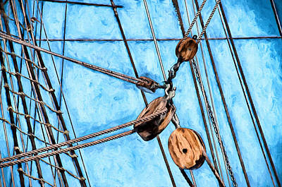 Historic Photograph - Cutty Sark Rigging by John K Woodruff
