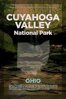 National Parks Mixed Media - Cuyahoga Valley National Park In Ohio Travel Poster Series Of National Parks Number 18 by Design Turnpike