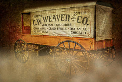 C.w. Weaver And Co. Wagon Print by Susan Candelario