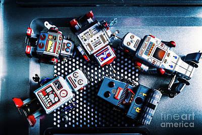 Drain Photograph - Cyborg Technology Reset by Jorgo Photography - Wall Art Gallery