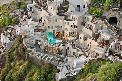 Cubicle Photograph - Cycladic Architecture by Edwin Verin