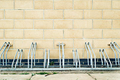 Brick Schools Photograph - Cycle Racks by Tom Gowanlock