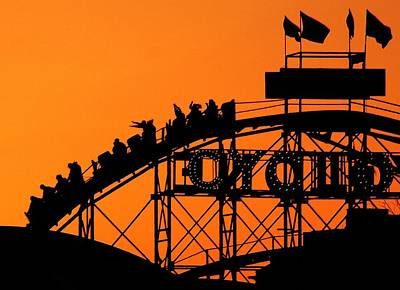 Rollercoaster Photograph - Cyclone by Mitch Cat