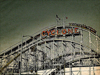 Rollercoaster Photograph - Cyclone Pop by Onedayoneimage Photography