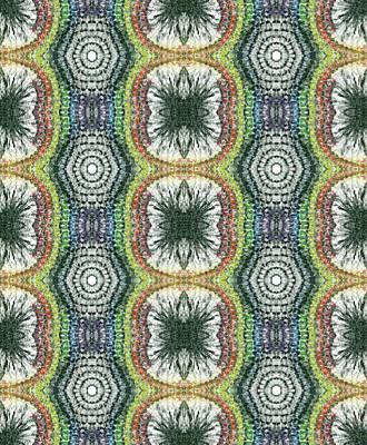 Cymatics Geometry #1545 Print by Rainbow Artist Orlando L aka Kevin Orlando Lau
