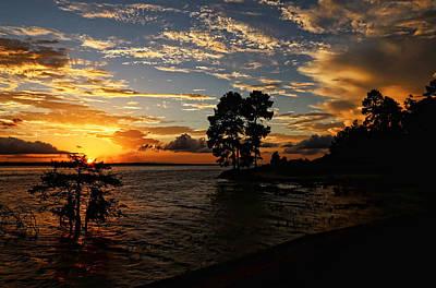 Cypress Bend Resort Sunset Print by Judy Vincent