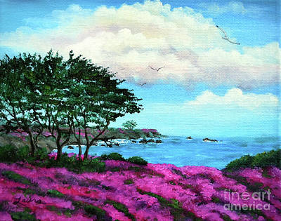Monterey Painting - Cypress Trees By Lovers Point by Laura Iverson