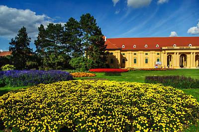 Czech Castle Lednice Print by Jenny Rainbow