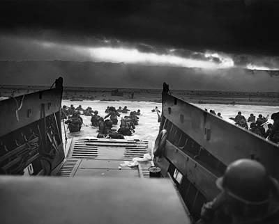 Omaha Photograph - D-day June 6, 1944 Omaha Beach by Daniel Hagerman