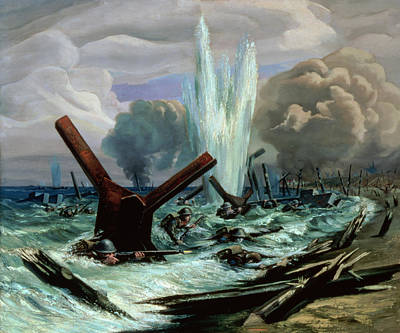 Explosions Painting - D Day by Orville Norman Fisher