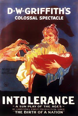D W Griffith's Intolerance 1916 Print by Mountain Dreams