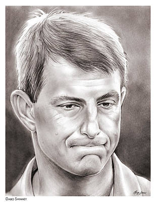 Football Drawing - Dabo Swinney by Greg Joens