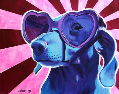 Dachshund Art Painting - Dachshund - Puppy Love by Alicia VanNoy Call
