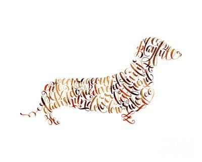 Dachshund Art Painting - Dachshund by Laura Bell