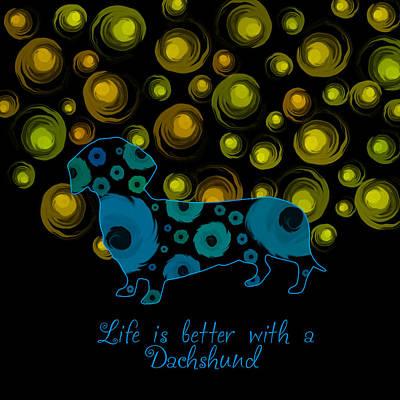 Dachshund Puppy Digital Art - Dachshund  by Mihaela Pater