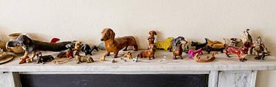 Dachshund Sculptures Print by Steven Ralser