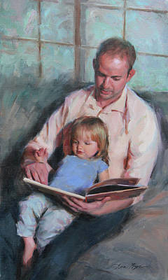 Daughters Painting - Daddy's Girl by Anna Rose Bain