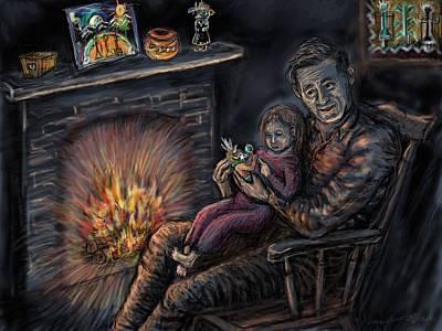 Hopi Drawing - Daddy's Kachina Tales by Dawn Senior-Trask