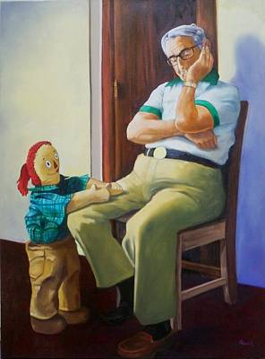Dad's Dilemma Original by George Palovich