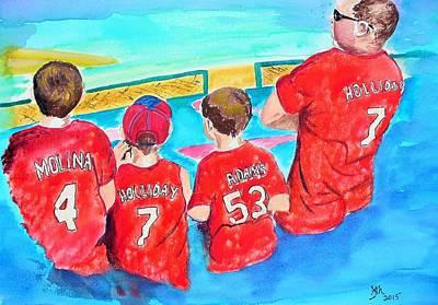 Dad's Future Cardinals Original by Janice Curry