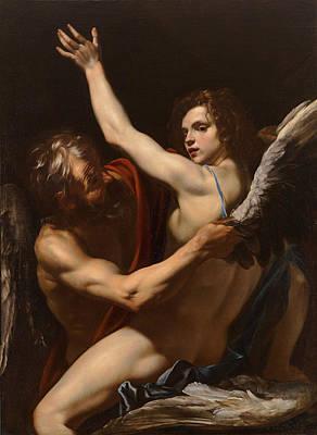 Icarus Painting - Daedalus And Icarus by Orazio Riminaldi