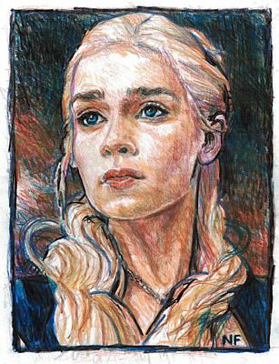 Daenerys Targaryen - Mother Of Dragons Print by Neil Feigeles