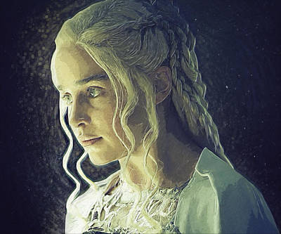 Throne Room Digital Art - Daenerys Targaryen by Semih Yurdabak