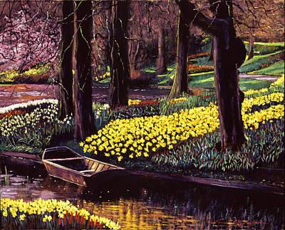 Daffodil Painting - Daffodil Park by David Lloyd Glover