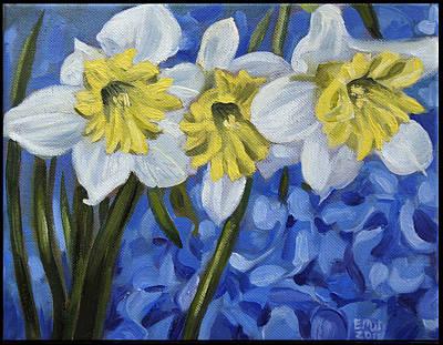 Edward Williams Painting - Daffodils by Edward Williams