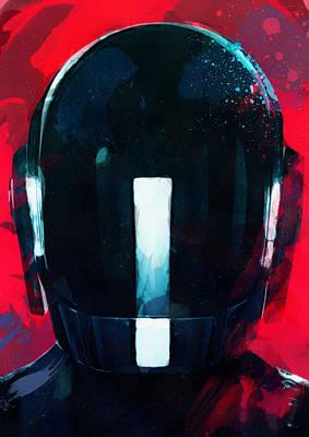Daft Punk II Print by Mortimer Twang