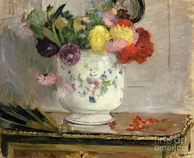 Dahlias Print by Berthe Morisot