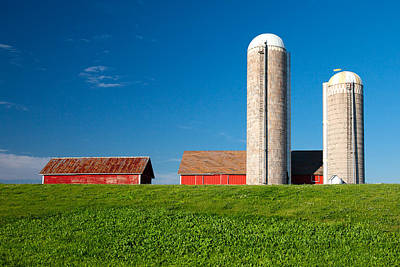 Dairy Farm Print by Todd Klassy