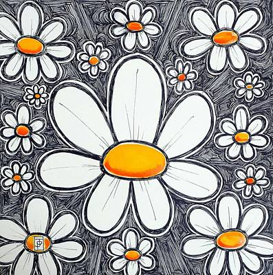 All-overs Painting - Daisies Of Delight by John Parish