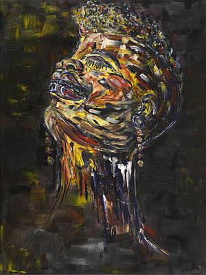 Painting - Daisy by Chakanaka Zinyemba