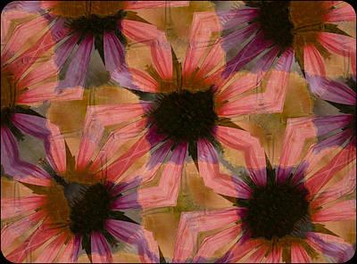 Daisy Design By Jean Noren Print by Jean Noren