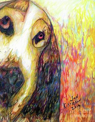 Drawing - Daisy by Jon Kittleson