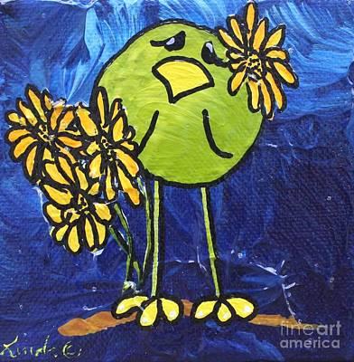 Limbbirds Painting - Daisy by LimbBirds Whimsical Birds