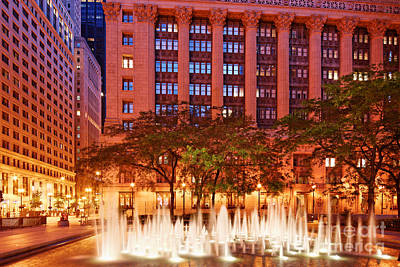Daley Plaza At Dawn - City Of Chicago - Illinois Print by Silvio Ligutti