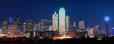 Dallas Skyline Photograph - Dallas Aglow With Color by Rospotte Photography