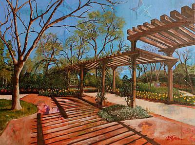 Early Spring Mixed Media - Dallas Blooms by Katrina Rasmussen