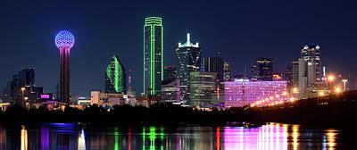 Dallas Photograph - Dallas Colors Pano 2015 by Rospotte Photography