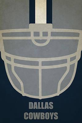 Dallas Cowboys Painting - Dallas Cowboys Helmet Art by Joe Hamilton