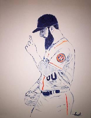 Houston Astros Painting - Dallas Keuchel Give Thanks by Jack Bunds