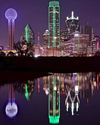 Dallas Skyline Photograph - Dallas Lights by Frozen in Time Fine Art Photography