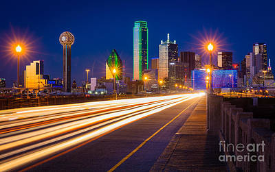 Dallas Lights Print by Inge Johnsson