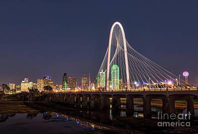 Landmarks Photograph - Dallas Skyline At Dark by Tod and Cynthia Grubbs