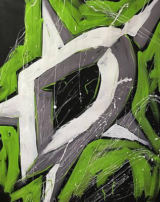 Hockey Art Painting - Dallas Stars by Elliott From